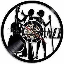 SSCLOCK Wanduhr Vinyl Musiker Wandlampe Retro Uhr