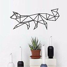 Sshssh Geometrische Fox Wandaufkleber Wohnzimmer