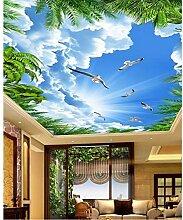 Sshssh Tapete Für Wände 3 D Kokosnussbaum Blauer