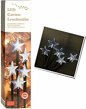 SSITG 1 Set LED Leuchtstäbe Balkon Terrasse Dekoration Beleuchtung Sterne Weihnachten (3-7 Tagen Lieferzeit)