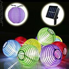SSITG 10 Solar Lampion Lichterkette Garten Kette Party Gartendeko bun