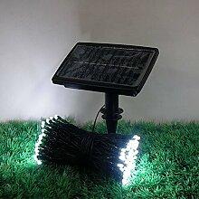 SSITG 100 LED Weihnachts lichterkette Solar Lichterkette Außenbeleuchtung Garten Weiß(deutsche Lager 3-7 Tagen Lieferzeit)