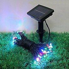 SSITG 100 LED Weihnachts lichterkette Solar Lichterkette Außenbeleuchtung Garten bunte (deutsche Lager 3-7 Tagen Lieferzeit)
