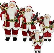 SSITG 1pc 30cm Weihnachtsmann Deko Weihnachts Nikolaus Santa Clause Figur Groß Weihnachts (Lieferzeit ist 3-7 Tagen)