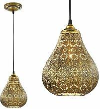 SSITG 1x Pendelleuchte orientalisch Hängeleuchte Messing Hängelampe Deckenleuchte Lampe