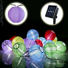 SSITG 20 Solar Lampion Lichterkette Garten Kette Party Gartendeko bun