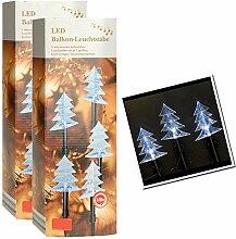SSITG 2er Set LED Weihnachtsdeko Terrasse Garten Beleuchtung Tannenbaum Weihnachten weiß (3-5 Tagen Lieferzeit)