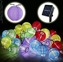 SSITG 30 Solar Lampion Lichterkette Garten Kette Party Gartendeko bun