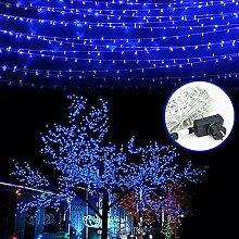 SSITG 30M Lichterkette Weihnachtsdeko Leuchte Lichternetz Innen Garten Blau