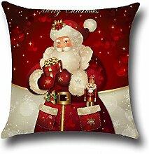 SSITG 45x45cm Weihnachten Santa Claus Leinen