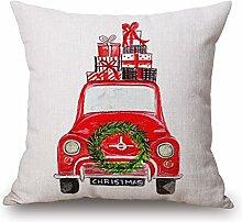 SSITG 45x45cm Weihnachten Santa Claus Xmas Leinen