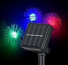 SSITG 50 LED Solar Lichterkette Bunt Weihnachten Party Garten Beleuchtung (deutsche Lager 3-7 Tagen Lieferzeit)