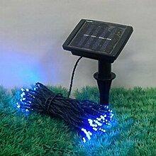 SSITG 500 LED Weihnachts lichterkette Solar Lichterkette Außenbeleuchtung Garten Blau (deutsche Lager 3-7 Tagen Lieferzeit)