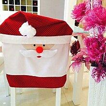 SSITG 65x50cm Weihnachten Stuhlhussen Weihnachts Stuhl Mütze Stuhlüberzug Abdeckung