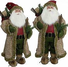 SSITG 80cm Weihnachtsmann Deko Weihnachts Nikolaus Santa Clause Figur Groß Weihnachts Deko (deutsche Lager 3-7 Tagen Lieferzeit)