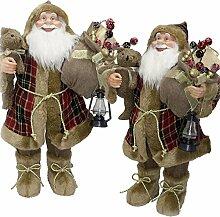 SSITG 80cm Weihnachtsmann Deko Weihnachts Nikolaus Santa Clause Figur Groß Weihnachts Deko