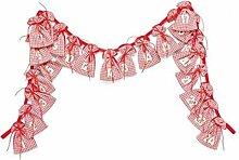 SSITG Adventskalender mit 24 Stoffsäckchen, Adventszahlen, zum Befüllen, von VBS (Lieferzeit ist 3-7 Tagen)