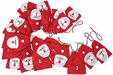 SSITG Adventskalender mit großen Taschen zum selbst befüllen Filz Weihnachtsmann 2,4 m(Lieferzeit ist 3-7 Tagen)