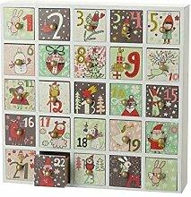 SSITG Adventskalender mit Schubladen Einzigartige