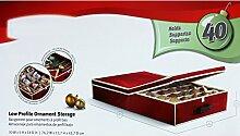 SSITG Aufbewahrungsbox für 40 Weihnachtskugeln