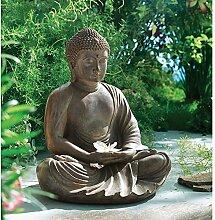SSITG Dekofigur Buddha Meditas Gartendeko Dekobuddha Raumdeko Deko Figur
