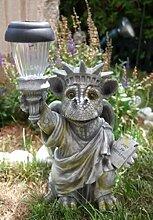 SSITG Drachenkind Freiheitsstatue mit Solar Laterne Drache Figur Gartenfigur