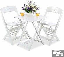 SSITG Garten Balkon Möbel Set Sitzgruppe Tisch