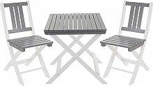 SSITG Garten-Garnitur Salzburg, Tisch Stuhl, Holz
