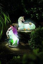 SSITG Garten Solar Leuchte LED Solarlampe Figur Pony Pferde Solar Beleuchtung Garten