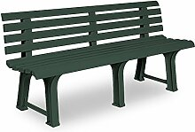 SSITG Gartenbank Parkbank Sitzbank Orchidea Sitz Bank Kunststoff Gartenmöbel 3 Sitzer