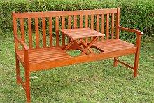SSITG Gartenbank, Sitzbank mit klappbarer Tisch Garten Bank Holzbank Picknick