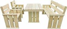 SSITG Gartenmöbel 4-tlg. Kiefernholz Holz