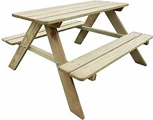 SSITG Holz Kinder-Picknicktisch Bank Sitzgruppe