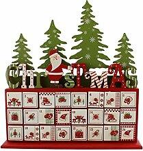 SSITG Holz Santa Wald Adventskalender