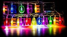 SSITG LED Lichterkette Schriftzug Weihnachtsdeko