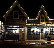 SSITG Lichternetz für Außen mit 240 LEDs 3x3m 300 LEDs 1.6x4.6 Weihnachten warmweiß 200LEDs