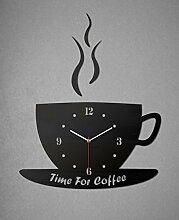 SSITG moderne exklusive Wanduhr Designeruhr Wanduhren Wandtattoo Dekoration Kaffeetasse