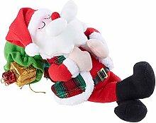 SSITG Schlafender Weihnachtsmann mit Atem-Bewegungen und Schnarch-Geräuschen