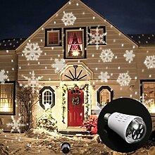 SSITG Schneeflocke LED Projektor Licht Birne Glühlampe Garten Beleuchtung Weihnachten (3-5 Tagen Lieferzeit)