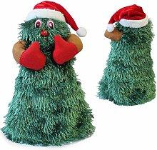 SSITG Singender Tanzender Weihnachtsbaum 27cm Ø11cm Weihnachts Deko Weihnachten Figur (deutsche Lager 3-7 Tagen)