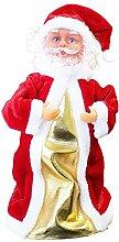 SSITG Singender Weihnachtsmann Tanzend 30cm Weihnachts Deko Weihnachten Figur Nikolaus (deutsche Lager 3-7 Tagen)