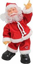 SSITG Singender Weihnachtsmann Tanzend 31cm Weihnachts Deko Weihnachten Figur Nikolaus