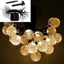 SSITG Solar LED Lichterkette 20 LED Party Garten Dekoration Außenbeleuchtung Deko