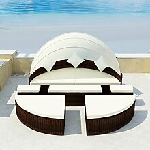 SSITG Sonneninsel Poly Rattan Lounge Sonnenliege