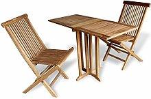 SSITG Teak Balkonset Sitzgruppe Gartenmöbel Holz