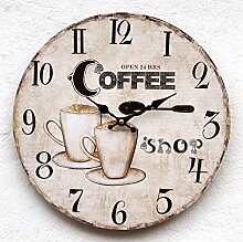 SSITG Uhr Wanduhr Küchenuhr Küche Kaffee Cafe
