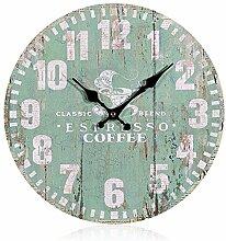 SSITG Uhr Wanduhr Küchenuhr Quarzuhr antik Design