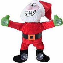 SSITG Weihnachtsmann am Fenster tanzend 30cm Weihnachts-Deko Weihnachten Nikolaus (deutsche Lager 3-7 Tagen Lieferzeit)