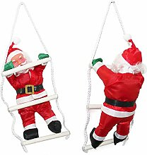 SSITG Weihnachtsmann auf Leiter 32cm Weihnachts Deko Weihnachten Figur Nikolaus (3-7 Tagen Lieferzeit)