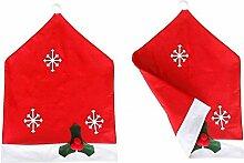 SSITG Weihnachtsmann Mütze Weihnachten Dekoration Stühle Decor Weihnachtliche Stuhl